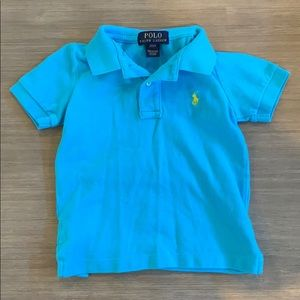 Ralph Lauren 2T bright blue polo w/yellow horse